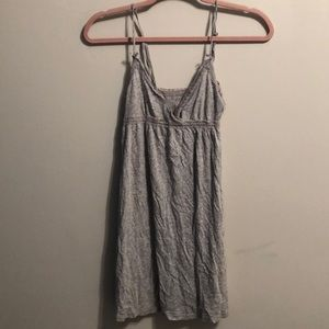 Aerie grey lace slip nightgown
